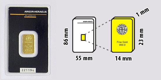 Zlatý investiční slitek, 5 gramů