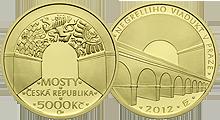 Zlatá mince Negrelliho viadukt PROOF