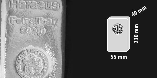 Stříbro investiční cihlička, 5 kilogram