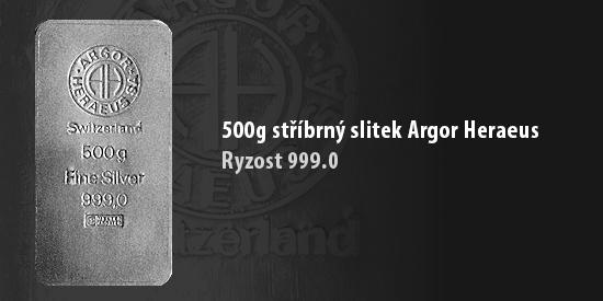 500g stříbro Argor Heraeus