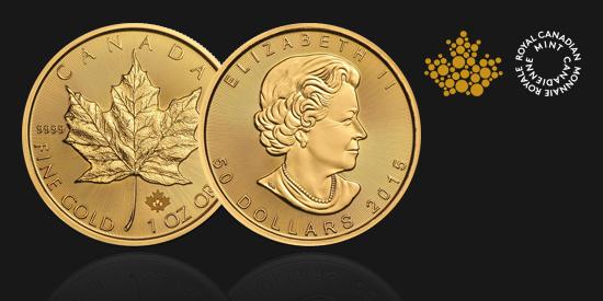 Zlatá investiční mince, 31.1 gramů, Maple Leaf