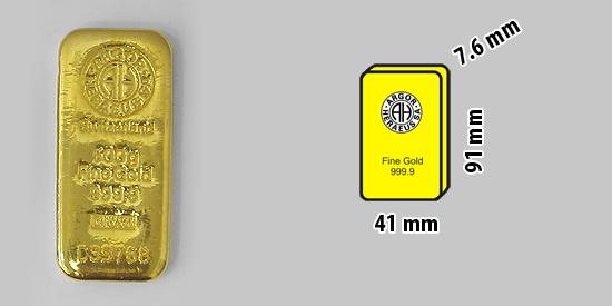 500g slitek investičního zlata 999.9