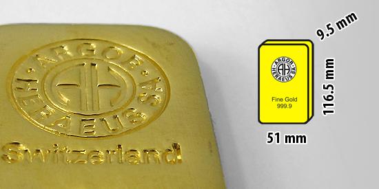 Zlatá investiční cihlička, 1 kilogram